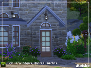 Sims 4 — Sevilla Square Construstionset Part 3 by Mutske — These type of windows and doors are based on spanish