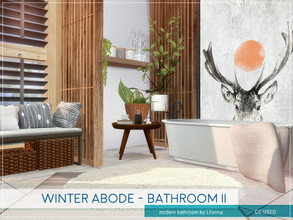 Sims 4 — Winter Abode - Bathroom II by Lhonna — Comfortable modern bathroom for wintertime. The room is furnished,