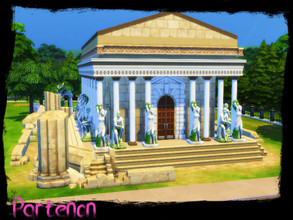 Sims 4 — Partenon by GenkaiHaretsu — A replica of a Greek temple built on the site of old ruins.