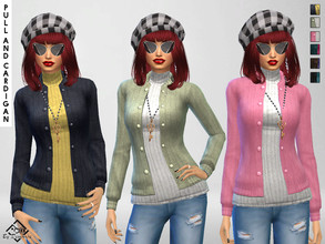 Sims 4 — Pullover and Cardigan Set by Devirose — Delightful wool sweater/pullover ideal for cold days,with lovely