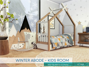 Sims 4 — Winter Abode - Kids Room by Lhonna — Large kids' bedroom for wintertime. The room is furnished, tested, and