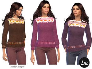 Sims 4 — Nordlys jumper by Lucy_Muni — Knitted jumper in 6 swatches Discover University expansion pack required