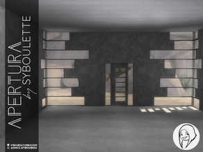 Sims 4 — Patreon Early Release - Apertura build set by Syboubou — This set offers three windows with a unique shape and a