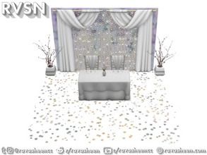 Sims 4 — Push Comes To Love Wedding Set by RAVASHEEN — This wedding set comes with tons of decor to make your simmie's