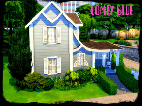 Sims 4 — Comfy blue by GenkaiHaretsu — Small comfy house for little family.