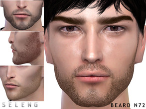 Sims 4 — Beard N72 by Seleng — Teen to Elder 10 colours Custom Thumbnail HQ mod compatible The picture was taken with HQ