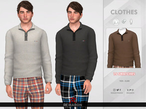 Sims 4 — Winter Sweater for Men 03 by remaron — -15 Swatches available -Custom CAS thumbnail -Base Game compatible.