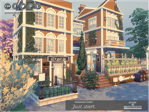 Sims 4 — Study in Britechester by Moniamay72 — If you don't live in a beautiful townhouse, there will be nothing to