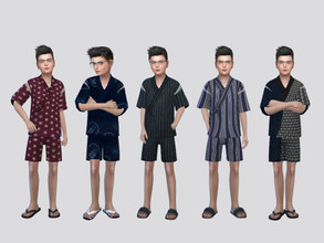 Sims 4 — Jinbei Festival Outfit Boys by McLayneSims — TSR EXCLUSIVE Standalone item 15 Swatches MESH by Me NO RECOLORING