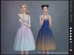 Sims 4 — Gradient dress by Arltos — 9 colors New mesh by me