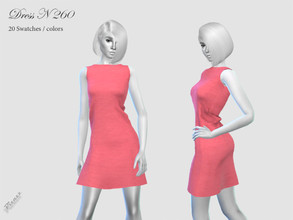 Sims 4 — DRESS N 260 by pizazz — Base game 20 colors / swatches HQ - LODS - MAPS *Hair Link can be found under recommend