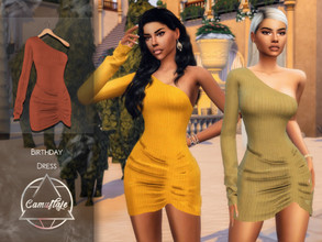 Sims 4 — Camuflaje - Birthday Dress  by Camuflaje — Yaay! Today is my birthday so I wanna thank you guys for giving me