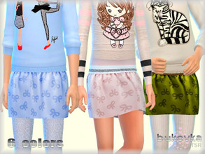 Sims 4 — Skirt for Girls by bukovka — Skirt for girls, child. Suitable for the base game. Mesh changed by me, included. 6