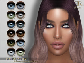Sims 4 — FRS Eyes N123 by FashionRoyaltySims — Standalone Custom thumbnail All ages and genders 12 color options HQ