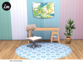 Sims 4 — Oak wood paneling by Lucy_Muni — Wood paneling in 6 colours Sims 4 base game retexture