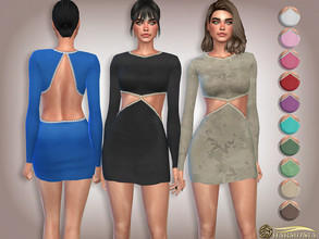 Sims 4 — Pear-Embellished Bodycon Dress by Harmonia — Mesh By Harmonia 13 color Please do not use my textures. Please do