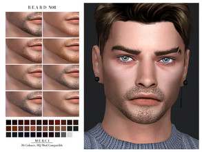 Sims 4 — Beard N08 by -Merci- — New Beard for Sims4 -Beard for mael and teen-elder. -No allow for random. -HQ Mod