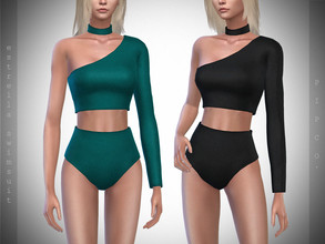 Sims 4 — Pipco - Estrella Swimsuit. by Pipco — 10 Swatches Base Game Compatible New Mesh All Lods Specular and Normal