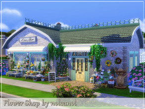 Sims 4 — Flower Shop by nolcanol — Flower Shop is a place that delights with the smell of freshly cut flowers, arranged