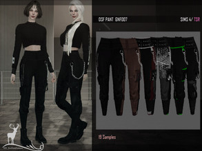 Sims 4 — DSF PANT GNF007 by DanSimsFantasy — Wide trousers with side pockets, is attached to the calves, includes the