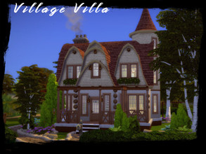 Sims 4 — Village Villa by GenkaiHaretsu — Country villa with dogs and cats addition.