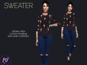 Sims 4 — Sweater Vol.2 by linavees — Original Mesh Custom thumbnail Base game compatible Happy simming!