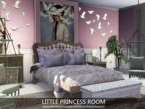 Sims 4 — Little Princess Room by dasie22 —  Please, use code bb.moveobjects on before you place the room . Size: 6x10