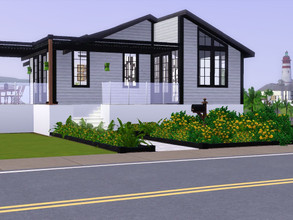 Sims 3 — On the Edge - 2 bed., 2 bath by Birgitjuuuh — This cosy modern house has everything a homeowner could possibly