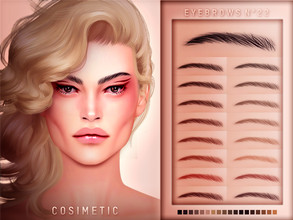 Sims 4 — COSIMETIC Eyebrows N22 by cosimetic — - This eyebrow can use on all genders and from teen to elder. - Contains [