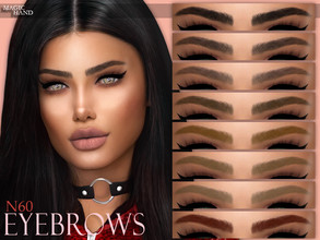Sims 4 — [MH] Eyebrows N60 by MagicHand — --12 available colors-- --Compatible with HQ settings-- --CAS thumbnail--