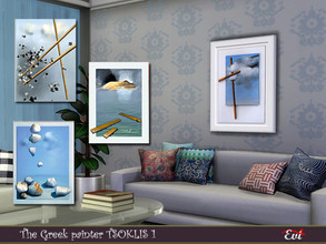 Sims 4 — The Greek painter Tsoklis K 1 by evi — Paintings by my favorite painter and creator Kostas Tsoklis ( also