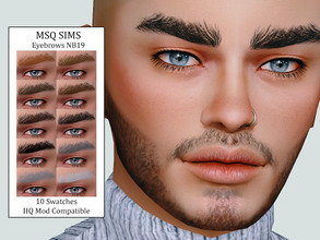 Sims 4 — Eyebrows NB19 by MSQSIMS — - Base Game - 10 Swatches - All Ages - Female/Male - HQ Mod Compatible - Custom