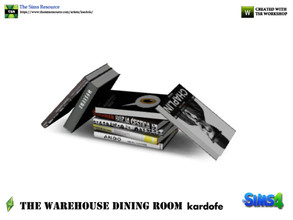 Sims 4 — kardofe_The Warehouse Dining Room _ Books by kardofe — Pile of untidy books,decorative object