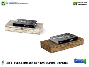 Sims 4 — kardofe_The Warehouse Dining Room _Box and book by kardofe — Worn wooden box with a book on top,in two colour