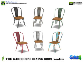 Sims 4 — kardofe_The Warehouse Dining Room _DiningChair 2 by kardofe — Wood and metal chair, industrial style, available
