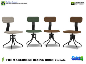 Sims 4 — kardofe_The Warehouse Dining Room _DiningChair by kardofe — Wood and metal chair, industrial style, in four