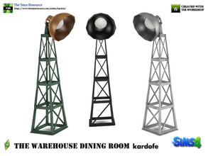 Sims 4 — kardofe_The Warehouse Dining Room _Floor lamp by kardofe — Floor lamp, industrial style, in three different