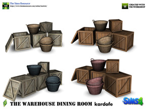 Sims 4 — kardofe_The Warehouse Dining Room _Pile of boxes by kardofe — Wooden boxes and baskets stacked in no particular