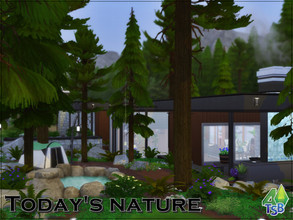 Sims 4 — Today's Nature by Bozena — Are you going on a vacation? This house is waiting for you, here you will spend your