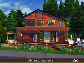 Sims 4 — Nesting in the woods by evi — A two bedroom country house with all the comforts for a beautiful living.