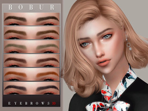 Sims 4 — Bobur Eyebrows 33 by Bobur2 — Eyebrows for female 20 colors HQ I hope you like it