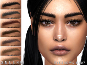Sims 4 — Eyebrows N107 by Seleng — Female 10 colours Custom Thumbnail The picture was taken with HQ mod Happy Simming!