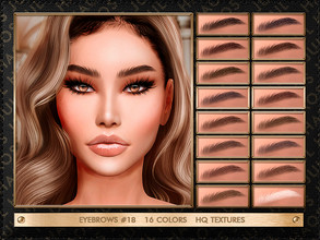 Sims 4 — JUL_HAOS [COSMETIC] EYEBROWS #18 by Jul_Haos — - CATEGORY: EYEBROWS - COLORS: 16 - GENDER: FEMALE - HQ TEXTURES
