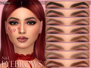 Sims 4 — [MH] Eyebrows N61 by MagicHand — --12 available colors-- --Compatible with HQ settings-- --CAS thumbnail--