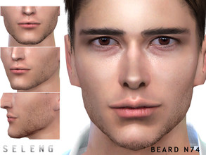 Sims 4 — Beard N74 by Seleng — Teen to Elder 10 colours Custom Thumbnail HQ mod compatible The picture was taken with HQ