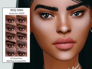 Sims 4 — Eyebrows NB20 by MSQSIMS — - Base Game - 10 Swatches - All Ages - Female/Male - HQ Mod Compatible - Custom