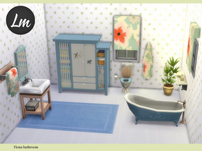 Sims 4 — Fiona bathroom by Lucy_Muni — Bathroom in muted colours and matching decor