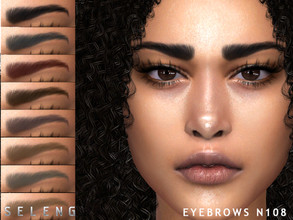 Sims 4 — Eyebrows N108 by Seleng — Female /male 10 colours Custom Thumbnail The picture was taken with HQ mod Happy