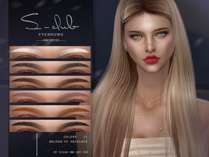Sims 4 — S-Club WM ts4 Eyebrows 202103 by S-Club — Eyebrows, 17 swatches, hope you like, thank you!