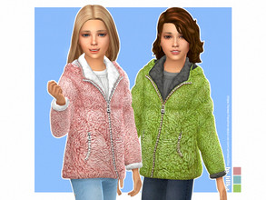 Sims 4 — Jule Winter Jacket - Girls [NEEDS SEASONS] by lillka — Jule Winter Jacket for Girls 3 swatches You need Seasons